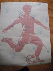 Appliqué mural joueur de soccer Saint-Hyacinthe Québec image 1