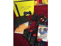PS2 Slim and Buzz game
