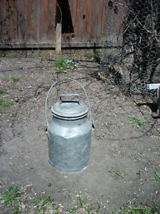 Antique Galvanized CPR Water Can