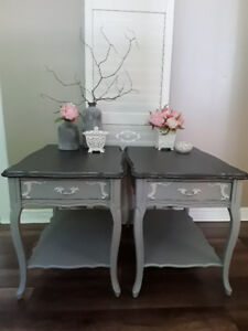 Beautiful French Provincial Tables.  Location: Kincardine.