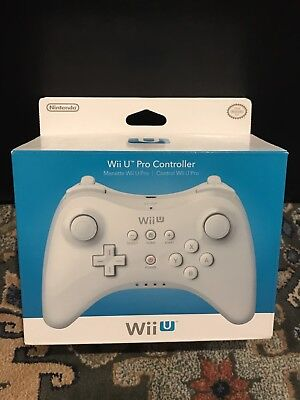 NEW Official Nintendo Wii U Wireless Pro Controller White Genuine OEM Authentic