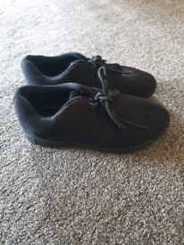 KIDS Black FABRIC trainers Size 2