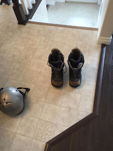 Snow Board, Boots and Helmet