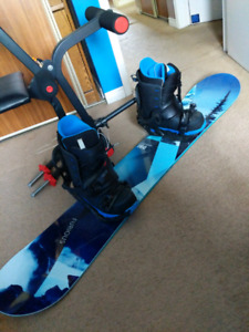 Snowboard set (USED ONCE)