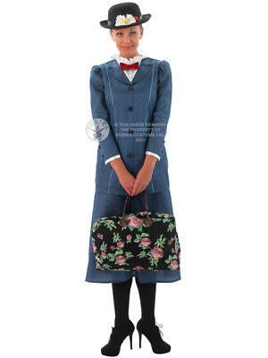 Adult Disney Mary Poppins Outfit Fancy Dress Costume Victorian Lady Edwardian (Victorian Lady Adult Kostüme)