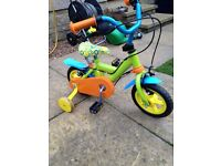 Childs bike with stabilisers - first bike