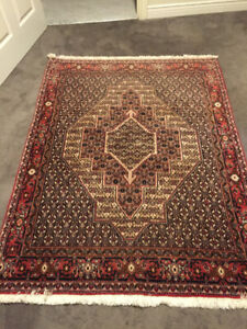 """68"""" X 48"""" """" Silk & wool handwoven thick Persian area Elte rug"""