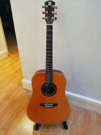 Ayers all solid wood Acoustic Guitar and gigbag