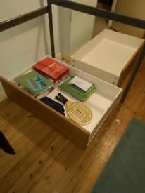 2 IKEA under bed storage boxes