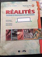 Réalités manuels d'histoire secondaire 1