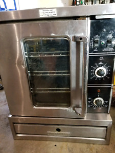 Garland half deck electric convection oven.