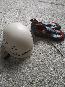 Climbing Shoes and Helmet