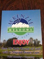 Golf Passes to McKenzie Meadows Golf Course in Calgary