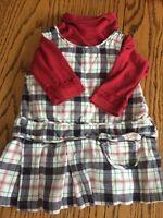 Gymboree dress, diaper cover, matching long sleeve diaper shirt