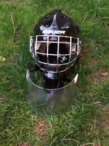 Junior Goalie Mask with Throat Guard
