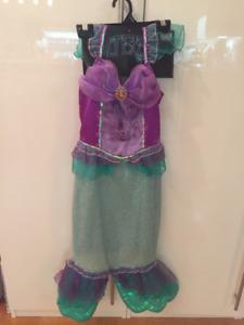 Costume d'halloween de Ariel (sirène) pour 4-7 ans