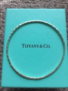 Tiffany co Hammered Bangle Bracelet
