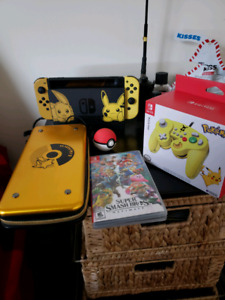Pokemon edition switch /w pokeball and more