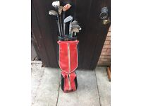 Golf clubs and bag - £2