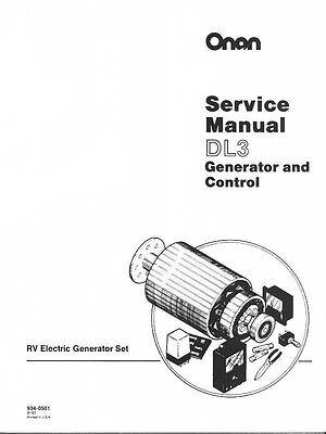 Onan Dl3 Rv Yd Generator And Control Service Manual