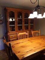 Solid Pine Harvest Table Chairs