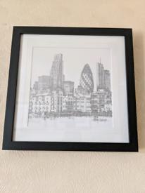 Framed Original Sketches