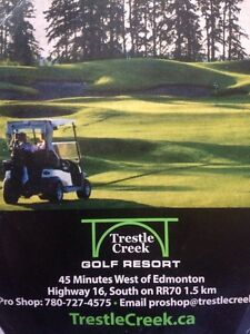 Round of golf and cart Trestle Creek Golf Resort