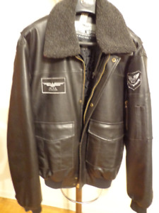 CHEROKEE AVIATION FAUX LEATHER JACKET SIZE L  $ 25