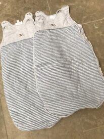2x The Little White Company Boys Sleeping Bag