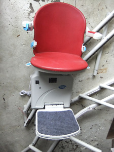 sterling 2000 curved stairlift  twin rail system complete set up