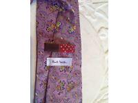 🎄Paul Smith Mens tie 100% silk floral print