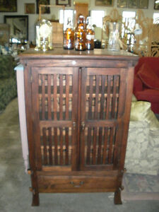 Pier 1 Solid Wood Wine Cabinet