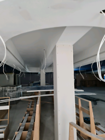 Ceiling and partition walls