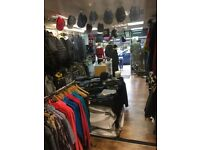 Menswear clothing shop lease for sale