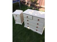 Refurbished Solid Pine Chest of Drawers &Bedside Table (Can Deliver)