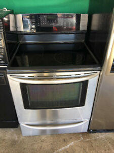 "high end Kenmore 30"" electric stainless steel ceramic top stove"
