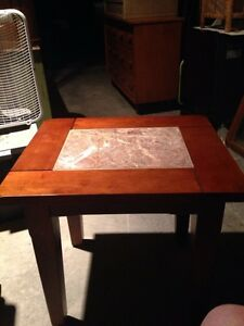 "Marble Top Occasional Table 24""L X 20"" W X 22.5 H"