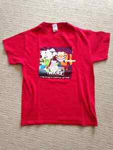 FUNNY COW WARS (STAR WARS) MEN RED TSHIRT SIZE S