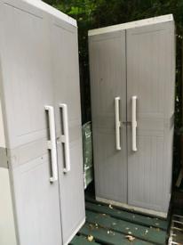 Plastic storage shed