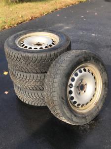 Winter Tires on Rims 215/65 R16