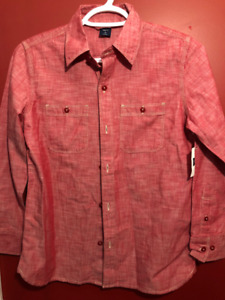 GAP Boy's Coral Button Up Shirt - Size Large (10) - Brand new!