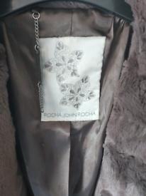 Rocha John Rocha Brown Faux Fur Jacket