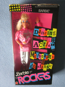1986 Dancing Action Rockers Barbie doll Mattel # 3055