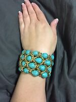 Gorgeous turquoise and gold bracelet