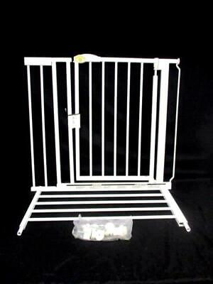 North States Supergate Auto-Close Gate White Metal 4820 With Expansion Piece
