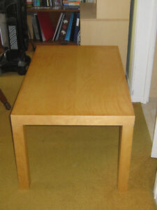 light colored table