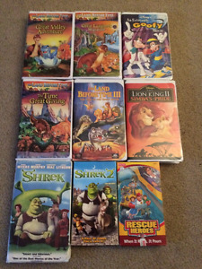 Assorted VHS movies for sale
