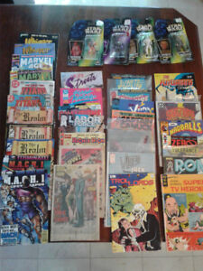 Comic Books and Star Wars Figures