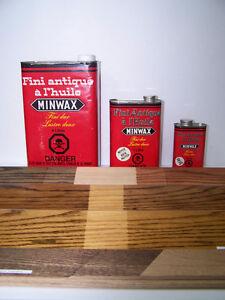 Teinture MINWAX  fini huiles antique valeur de 15$ rég.Décapant