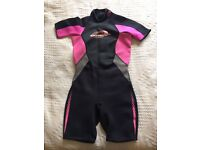 Ladies osprey summer shortie wetsuit. 10/12